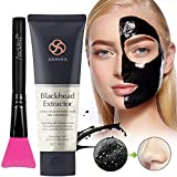 AsaVea Black Peel Off Mask with Brush,Blackhead Remover Charcoal Blackhead Remover, Deep Cleansing,...