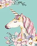 Pintar por Numeros para Adultos Niños Unicornio rosa Pintura por Kit de números, DIY...