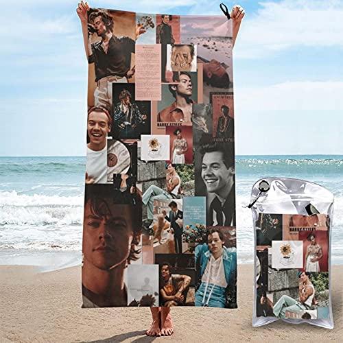 vintage corazón recorte merchandise Harry estilos para adolescentes niñas pop rock secado rápido toalla set graduación temporada 2021 tomar el sol spa cosas