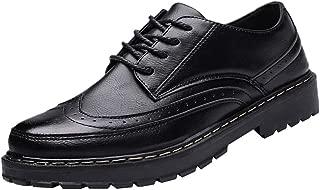 Mens Oxford Shoes,Realdo Men's Four Seasons Polished British Retro Outdoor Casual Shoes
