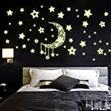 Pegatinas de pared Glow in The Dark Stars, Pegatinas de decoración de paredes para dormitorios Murales de pintura Glow in The Dark