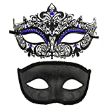 Coddsmz Máscara de Fiesta de Pareja Máscaras de Disfraces venecianas Mardi Gras Máscara de...