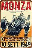 HONGXIN Monza 1949 Retro Poster Vintage Metallschild bemalt
