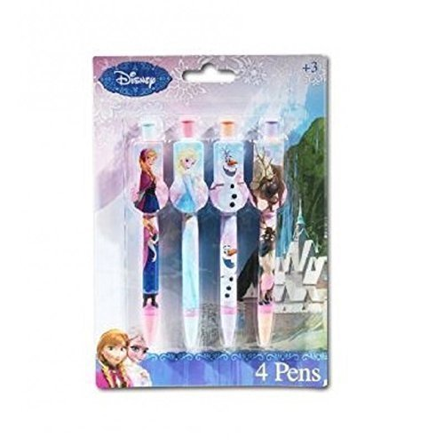 lot de 4 stylos bille - Anna & Elsa - la Reine des Neiges