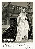 12X8 INCHES Signierter Druck von Maria Callas, ca. Größe