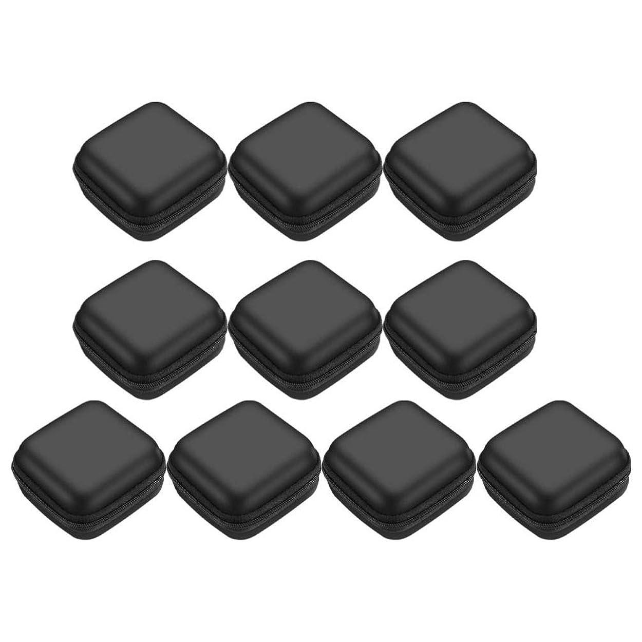 伝統制限するエジプト人Yardwe 10ピースイヤホン収納ボックスデータケーブルホルダーケースミニキャリングポーチバッグトラベルキャリングケースバッグ用ジュエリーヘッドセット電源コード(スクエア、ランダムカラー)