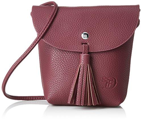 TOM TAILOR  Damen Ida, Rot (Wine), 4.5x16x17 cm, Damen Handtasche TOM TAILOR Handtaschen, Taschen für Damen