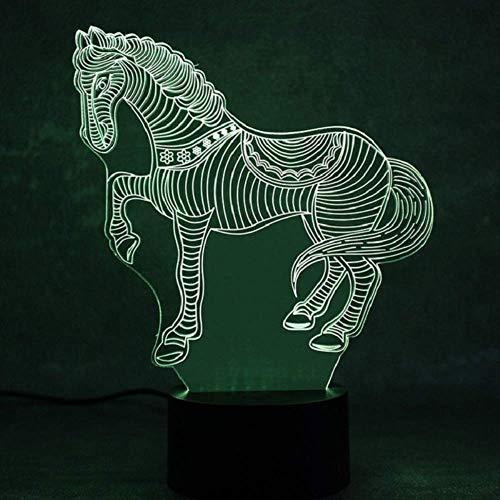 LWJZQT 3d nachtlampje 3D nachtlampje dier decoratie tafellamp optische illusie lamp 7 kleuren veranderende lichten huis Brithday kinderen decor gif