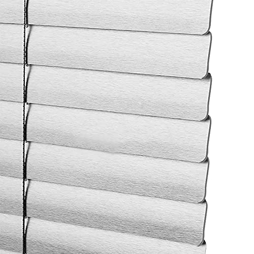 Estor enrollable persianas venecianas 105cm/110cm/120cm de Ancho Persianas Venecianas de Aluminio Plateado, Persianas Oscurecedoras para Dormitorio Oficina Balcón, Listón de 2,5cm de Ancho, a Medida