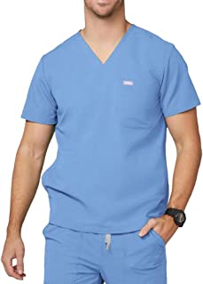 Chisec Three-Pocket Scrub Top for Men – Tailored Fit, Super Soft Stretch, Anti-Wrinkle Medical Scrub Top