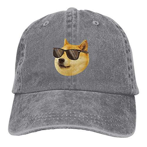 Ynjgqeo Cool Doge Sunglasses Dad Denim Hats Washed Baseball Caps Adjustable Men's