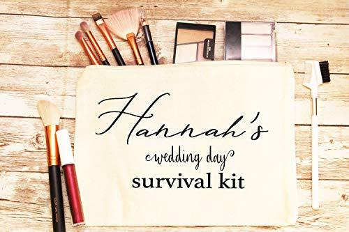 Personalisierbare Braut-Surv-Tasche, personalisiertes Geschenk für Braut, Hochzeitsgeschenk, Braut-Notfall-Set, Braut-Survival-Kit, Make-up-Tasche, Kosmetiktasche