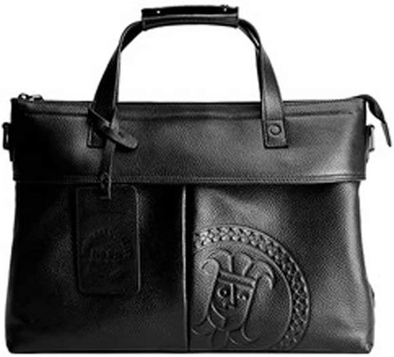 MüHsam Männer Aktentasche Tasche Aus Echtem Leder Herren Business Laptop Tasche Messenger Bag Männer Casual Schulter Tasche Hohe Qualität Zipper Handtasche Aktentaschen Gepäck & Taschen