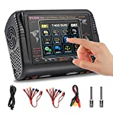 LiPo Charger RC Car Battery Charger Touch Screen AC 200W DC 400W 12A Balance Battery Charger Discharger for LiPo/Life/NiCd NiMH/LiHV/PB Battery(Battery Charger Adapter)