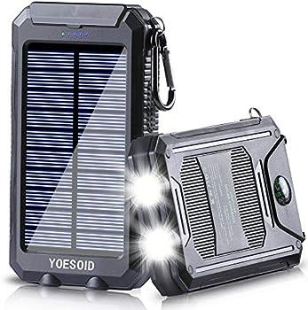 Yoesoid 20000mAh Portable Solar Power Bank