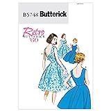 BUTTERICK PATTERNS B5748 Misse/Misse Petite Dress, Size E5 (14-16-18-20-22)