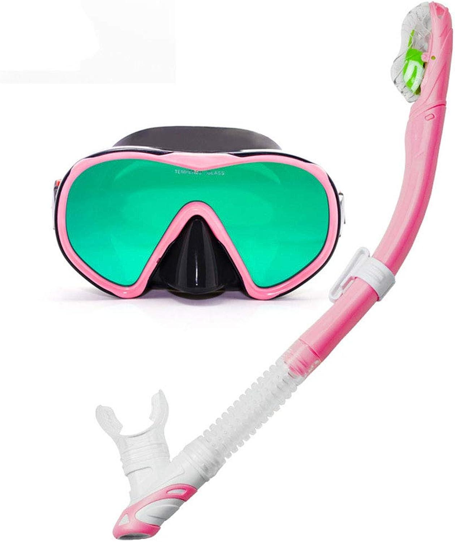 Snorkel Mask Anti-Fog Snorkel Diving Set with Upgraded Free Breathing Tubes Anti-Leak Dry Top Snorkel for Adult