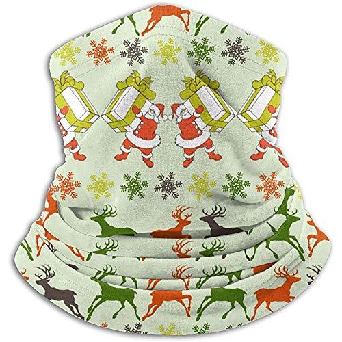 Archiba Neck Warmer Neck Gaiter Cartoon Santa Claus Reindeers Silhouettes Outdoor Headwear Guêtres Unisex