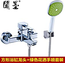 Hlluya Professional Sink Mixer Tap Kitchen Faucet Smell The Bathroom Faucet Electric Water Heater Water Mixing Valve tub Shower Faucet Mixing Valve Faucet Flush and tap + Olive Green Shower kit