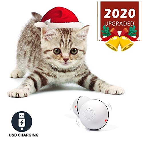 YOFUN Smart Interactive Cat Toy - Newest Version 360 Degree Self Rotating Ball