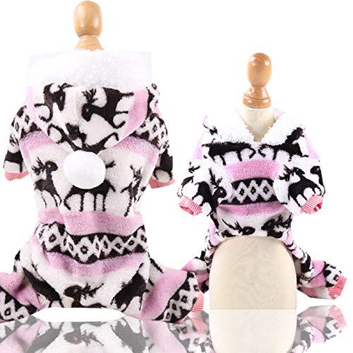 Ropa De Perro Abrigo Chaqueta Suave Y Clido Pao Grueso Y Suave Ropa para Perros Disfraz Chihuahua Pequeo Abrigo para Perros XL Pinkfawn