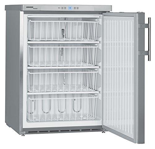 Liebherr GGU1550 Independiente Vertical 133L Sin especificar Acero inoxidable - Congelador (Vertical, 133 L, 14 kg/24h, SN-T, 42 dB, Acero inoxidable)