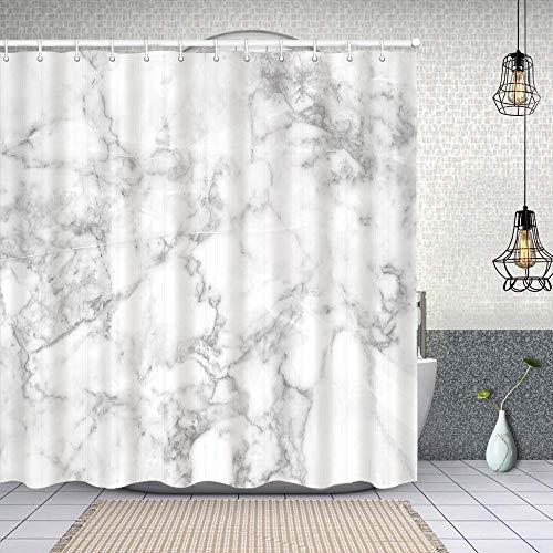 Duschvorhang,Natur Granit Muster mit wolkigen Flecken Spuren Effekte Marmor Bild,Enthält 12 Duschvorhanghaken waschbar,Wasserdicht Bad Vorhang für Badezimmer Badewanne 150X180cm