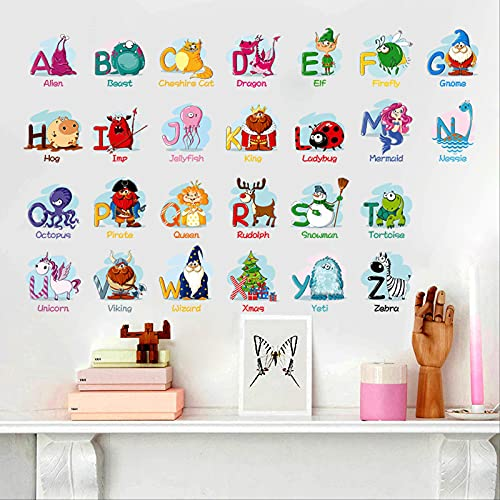 Etiqueta engomada de la pared del patrón animal de la letra Pegatinas de papel tapiz de PVC respetuosas con el medio ambiente, decoración de paisajismo extraíble autoadhesiva