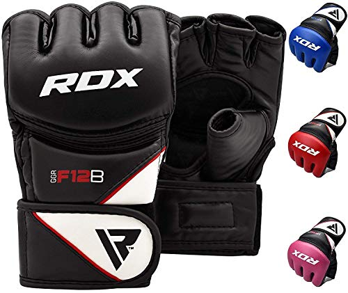 black and white mma gloves