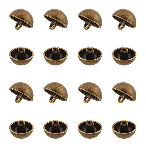 UNICRAFTALE 20 Pieza Botones de Costura de Aleación de 20 mm de Diámetro Botones Chaqueta de Vástago Redondo Medio Bronce Antiguo Abrigos de Lana Deportivos Botones para Coser Abrigos Trajes B
