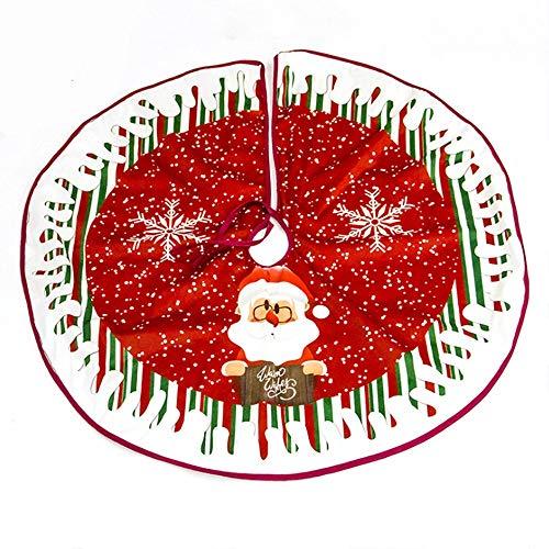 JLTPH Weihnachtsbaum Rock 90CM Baumdecke Weihnachtsbaum Rock Christbaumdecke Rund Cartoon Weihnachtsbaumdecke Christbaumständer Teppich Decke Weihnachtsbaum Deko