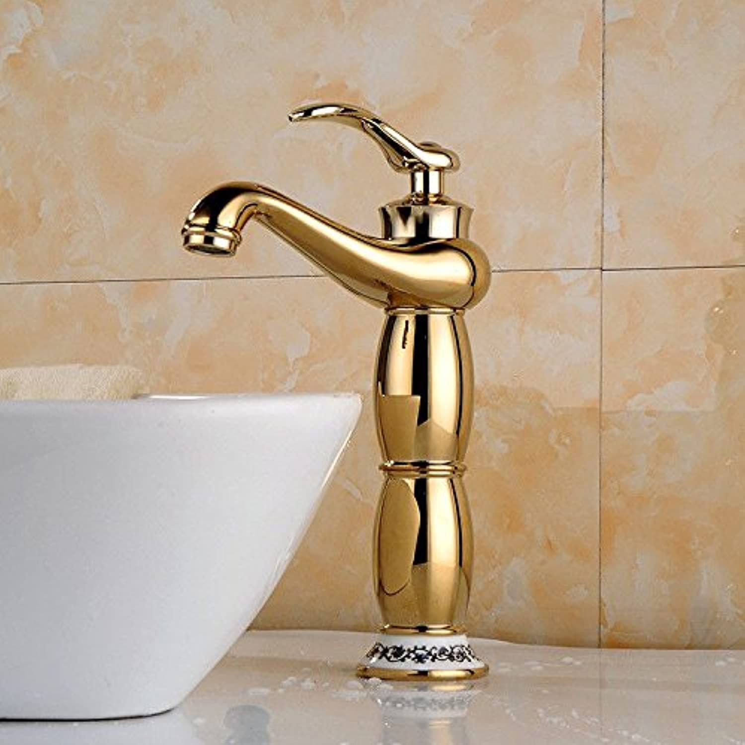 AQMMi Basin Taps Bathroom Sink Faucet Copper Single Lever Chrome Plated 1 Hole Bathroom Sink Faucet Basin Mixer Tap