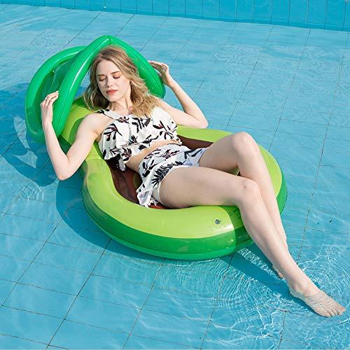 yueydengsun Hamaca inflable de aguacate de alta calidad para piscina, flotador de piscina, hamaca inflable multiusos (silla, sillón, hamaca, conductor), hamaca de agua, colchón inflable