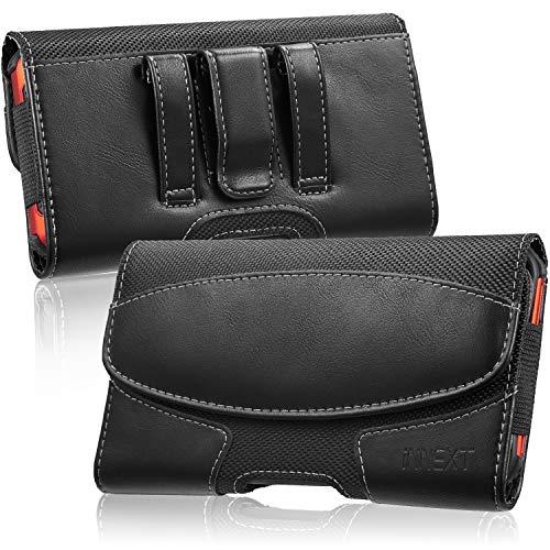 iNNEXT Fondina da cintura per iPhone 11 Pro / 8 Plus / 7 Plus / iPhone 6 Plus, custodia da trasporto in pelle orizzontale premium per telefono con clip da cintura Passante per cintura