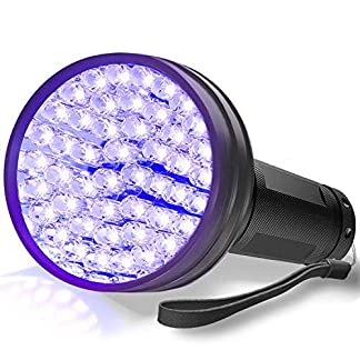 AOLOX Flashlight Black Light 51 LED Torch Light Ultraviolet Detector for Dog Urine Pet Stains and Bed Bug Housebreaking Use with pet odor eliminator 18