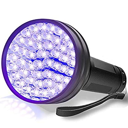 AOLOX Flashlight Black Light 51 LED Torch Light Ultraviolet Detector for Dog Urine Pet Stains and Bed Bug Housebreaking Use with pet odor eliminator 1