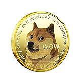 Precioso Wow Monedas Conmemorativas De Dogecoin Chapadas En Oro Patrón De Perro Lindo Colección De Recuerdos De Perro Regalos Monedas Monedas Conmemorativas De Dinero