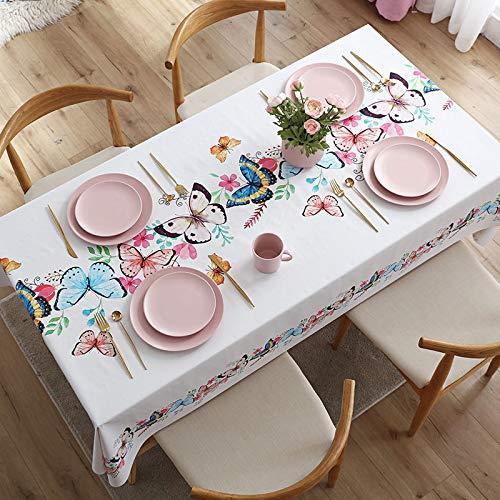 LIUJIU Home Tischdecke Tischtuch Tafeldecke schmutzabweisend wasserabweisend Lotuseffekt pflegeleicht für drinnen und draußen eckig,140X140cm