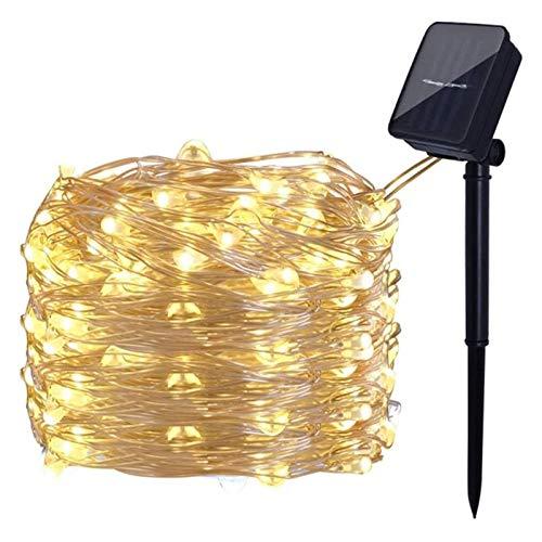 WANGJUNXIU Solar String Light 20-200 Lights, 8 Modes 2-20M Copper Wire Lights, Outdoor Fairy Lights for Garden Patio Yard Christmas Tree Party Wedding Decor(Warm White) Halloween String Lights