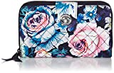 Vera Bradley Signature Cotton Turnlock Wallet with RFID Protection, Garden Grove