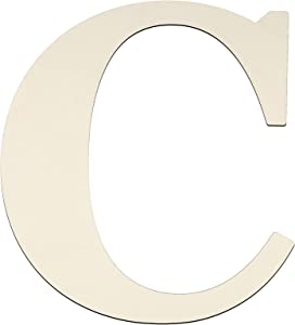 12 Inch Unfinished Wooden Letters Wood Letters Sign Decoration Wooden Decoration for Painting, Craft and Home Wall Decoration (Letter C)