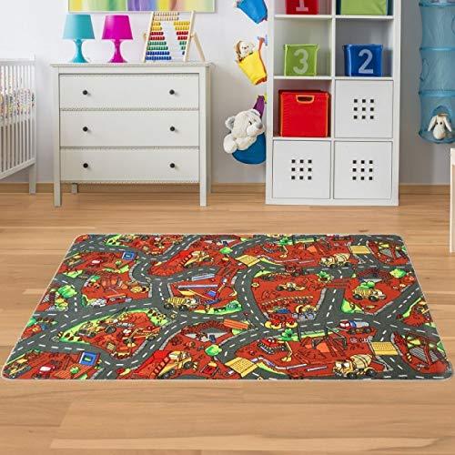 Kinder Spielteppich Baustelle Größe 160 x 200 cm