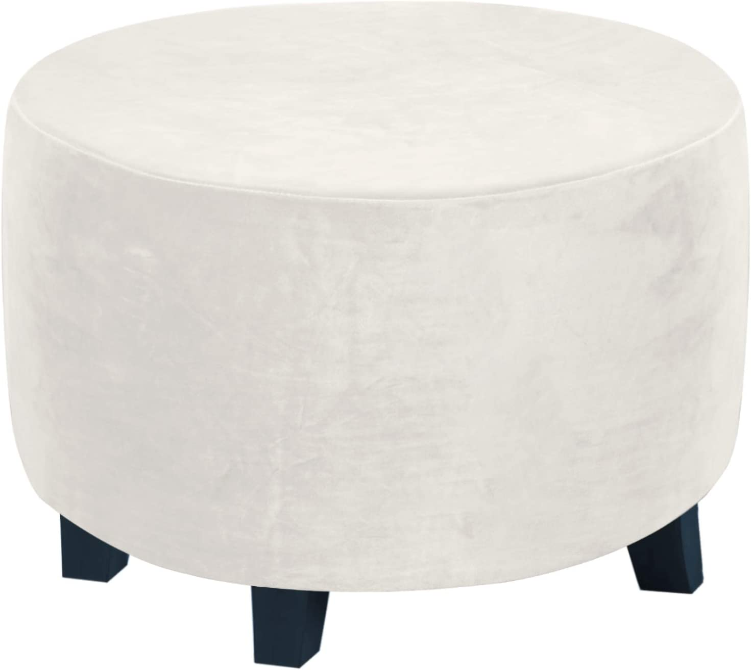 sold out Max 84% OFF Round Ottoman Slipcover Prote Footstool Covers