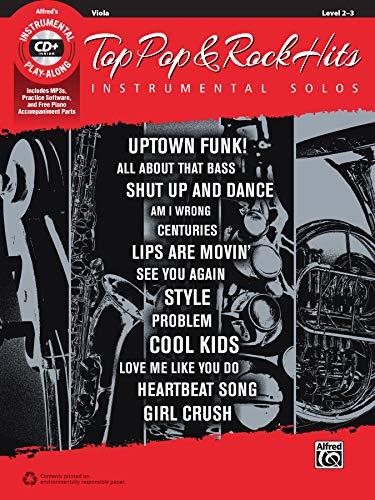Top Pop & Rock Hits Instrumental Solos for Strings: Viola, Book & CD (Top...