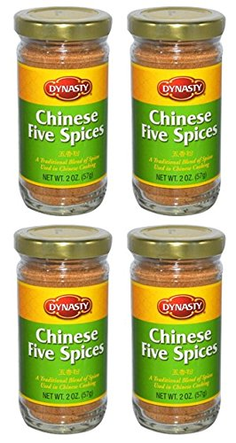 Dynasty Chinese Five Spices Powder For Redcooked Or Roasted Meats Or Poultry (Pack of 4)