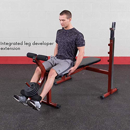 Body-Solid Best Fitness BFOB10 Adjustable Olympic Folding Weight Bench for Home Gym