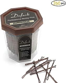 Dofash 260pcs 5CM/2in Bobby pins bulk strong hair clips for Hair Salon (Brown)