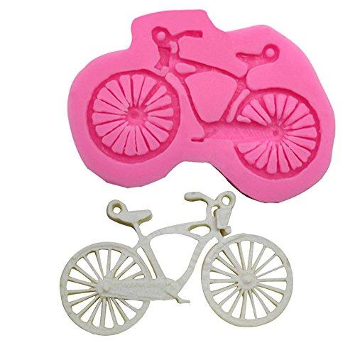 Shuda 1 Pc Moule Silicone Vélo Forme 3D Fondant Moule Gâteau Cupcake Décoration Moule Chocolat Moule, 7.3 * 4.9 * 0.8cm