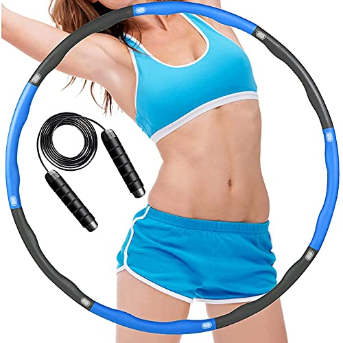 ACPURI Hula Hoop, Hula Hoop Reifen 1,2 KG Durchmesser 95cm,Hula-Hoop für Erwachsene & Kinder, Hoola Hoop 6~8 Abnehmbare für Fitness/Training/Bauchmuskelkonturen