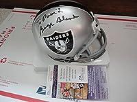 George Blanda Hand Signed Oakland Raiders Mini Helmet To David Rare Jsa - Autographed NFL Mini Helmets